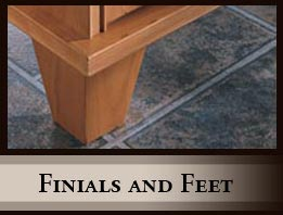 Finials and Feet